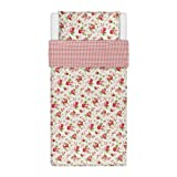 Ikea Rosali Bettbezug-Set, 100% Baumwolle, 140x 200cm und 80x 80cm, Weiß