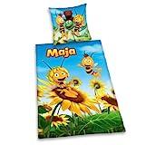 Herding 448755050 Bettwäsche Biene Maja, Kopfkissenbezug: 80 x 80 cm + Bettbezug: 135 x 200 cm, 100 % Baumwolle, Renforce