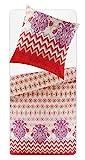 Bassetti Set von Bettwäsche aus Mako Satin, Typ: Bodhran 80 x 80 cm - 155 x 220 cm mehrfarbig