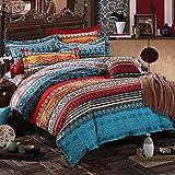 Lanqinglv Bohemian Bettwäsche 135x200 cm 2 Teilig Boho Indischen Mandala Bettwäsche Set Renforce mit Reißverschluss Bettbezug und Kissenbezug 80x80cm (WCF,135x200
